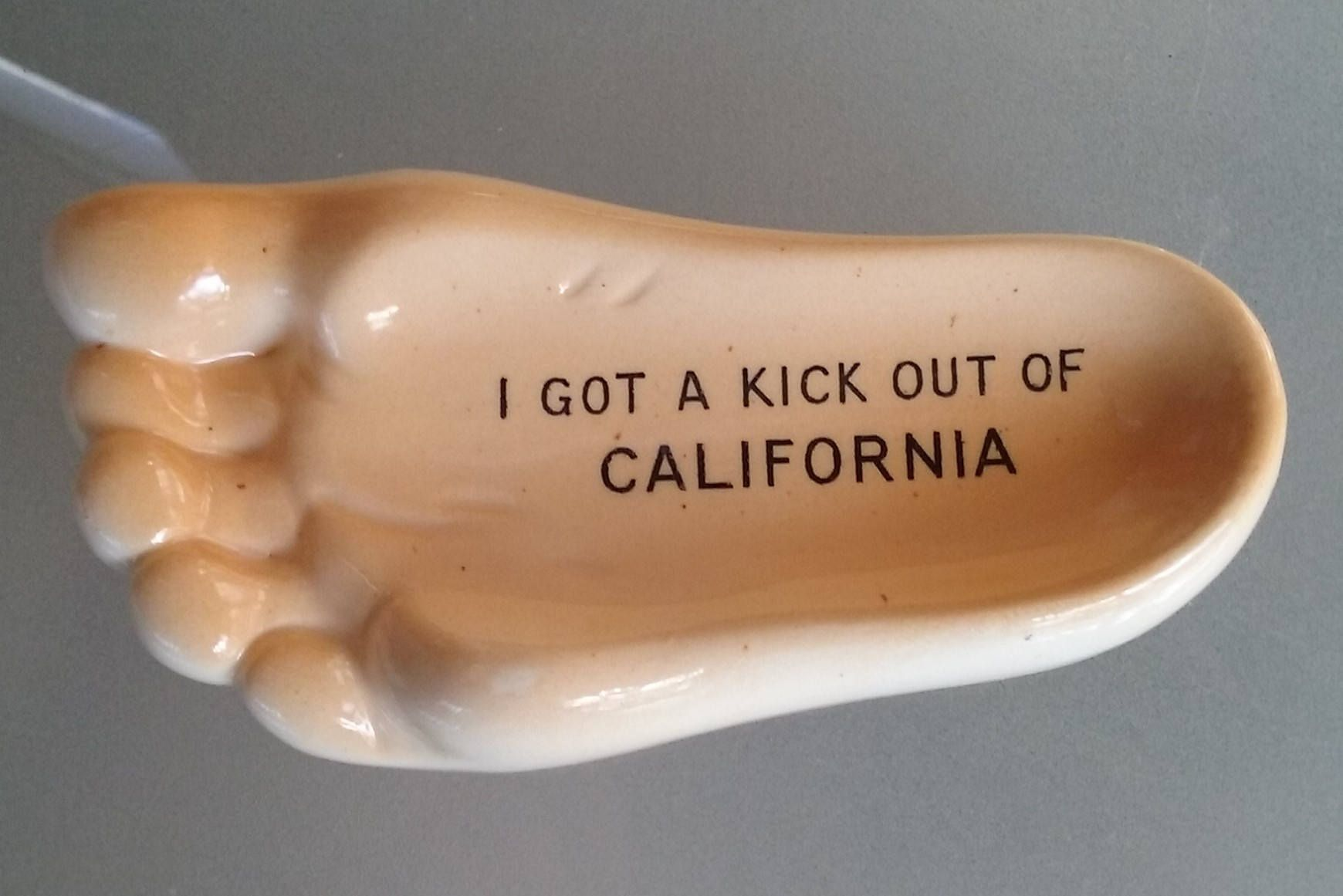 Anco Humorous Foot Ashtray, Vintage Home Decor, I Got a Kick Out of ...