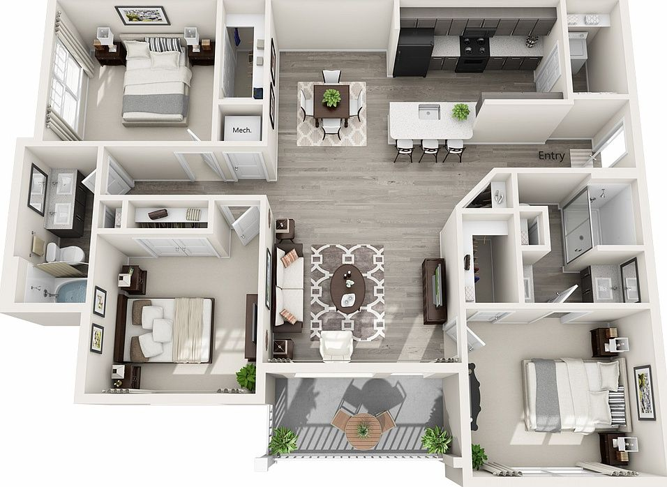 Legacy Concord Apartment Rentals Concord Nc Zillow Sims House Design Small House Design House Layout Plans