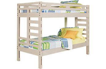 Creekside Stone Wash Twin Twin Bunk Bed Twin Bunk Beds Bunk Beds Bedroom Furniture Stores