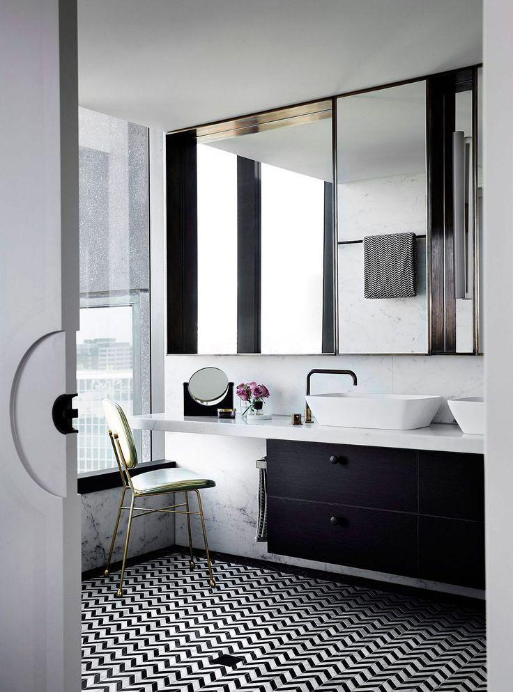 Image Result For Master Bathroom Black And White Floor Br