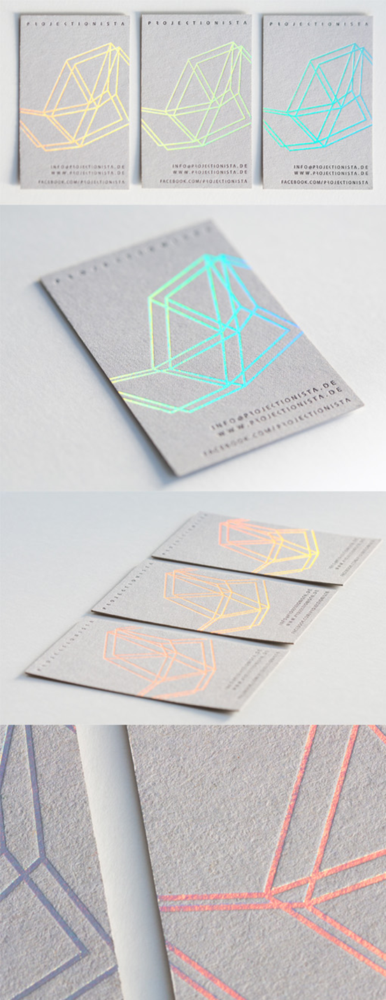 Holographic Foil Business Card | Graphic Design // Typography ...