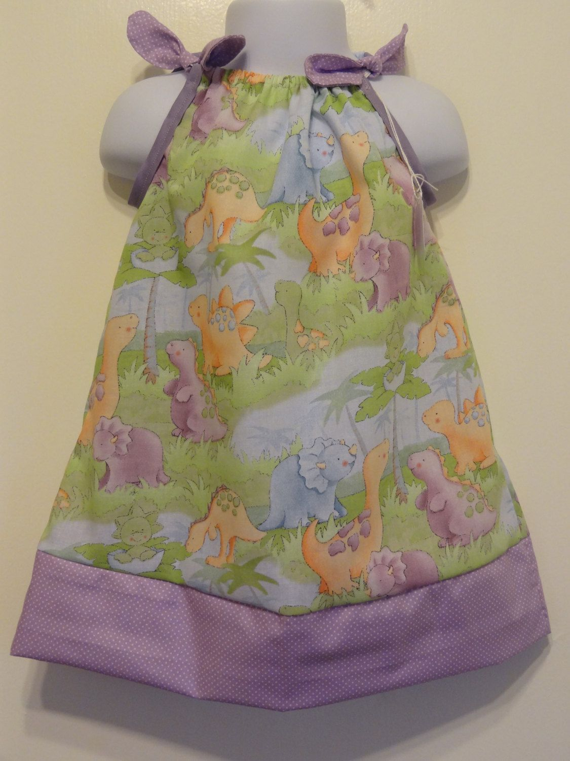Cute Baby Dinosaurs Girls Pillow Case Dress Made to Order Sizes 6 months months months and Size 2 to 8 & Cute Baby Dinosaurs Girls Dress Pillow Case Dress Made to Order ... pillowsntoast.com