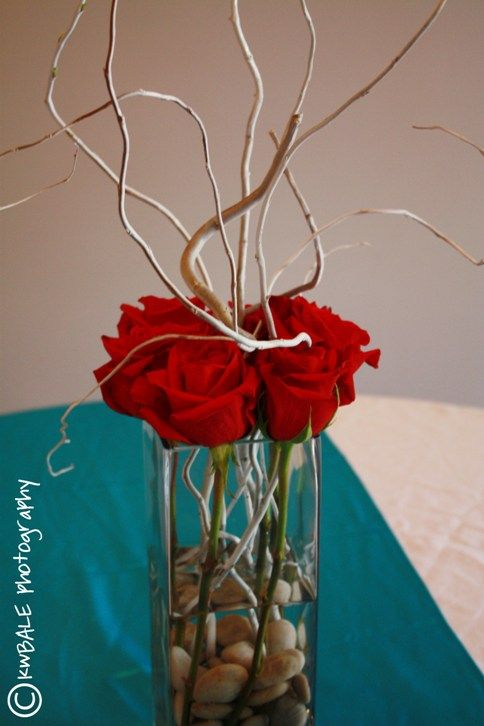 Roses And Branches Could I Do This With The White Carnations I - Beautiful flowers candles centerpieces romanticize table decoratio