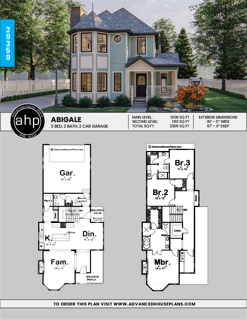 Abigale 2 Story Victorian House Plan Victorian House Plans