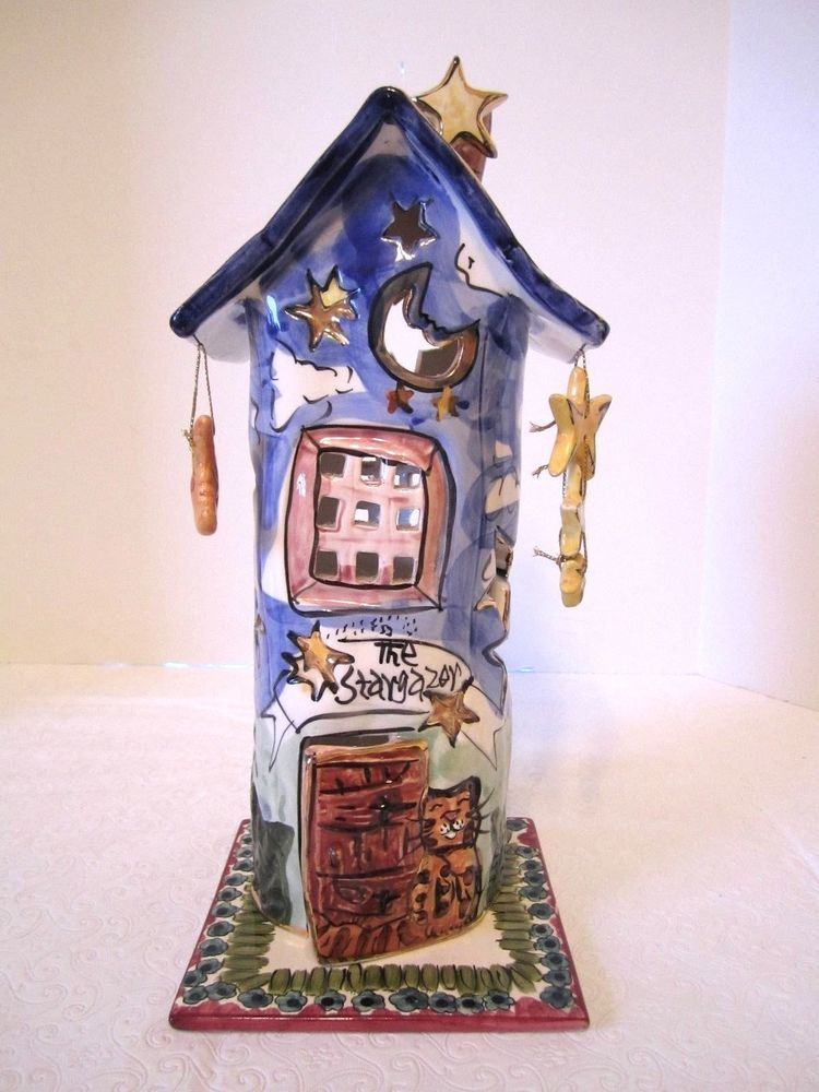 Blue Sky Clayworks The Stargazer Candle Holder House