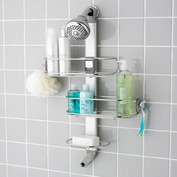 Simplehuman Flip Fit Shower Caddy Shower Organization Shower Caddy Simplehuman