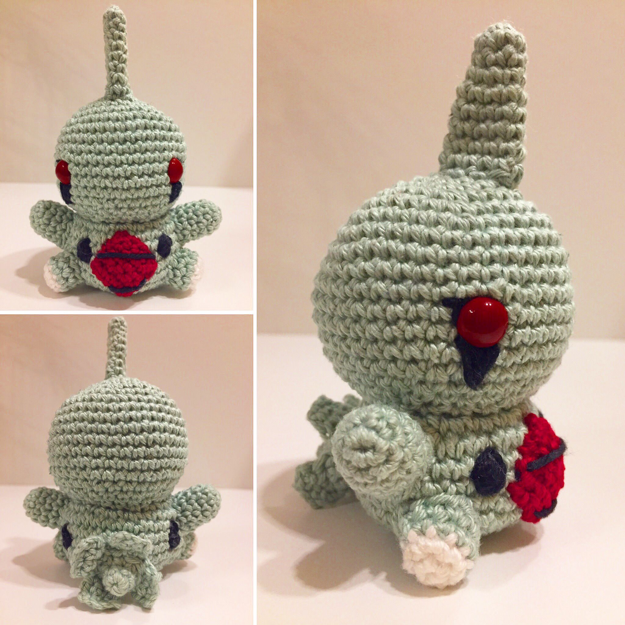 Larvitar häkeln / crochet | crafts | Pinterest | Selfmade, Tier und ...
