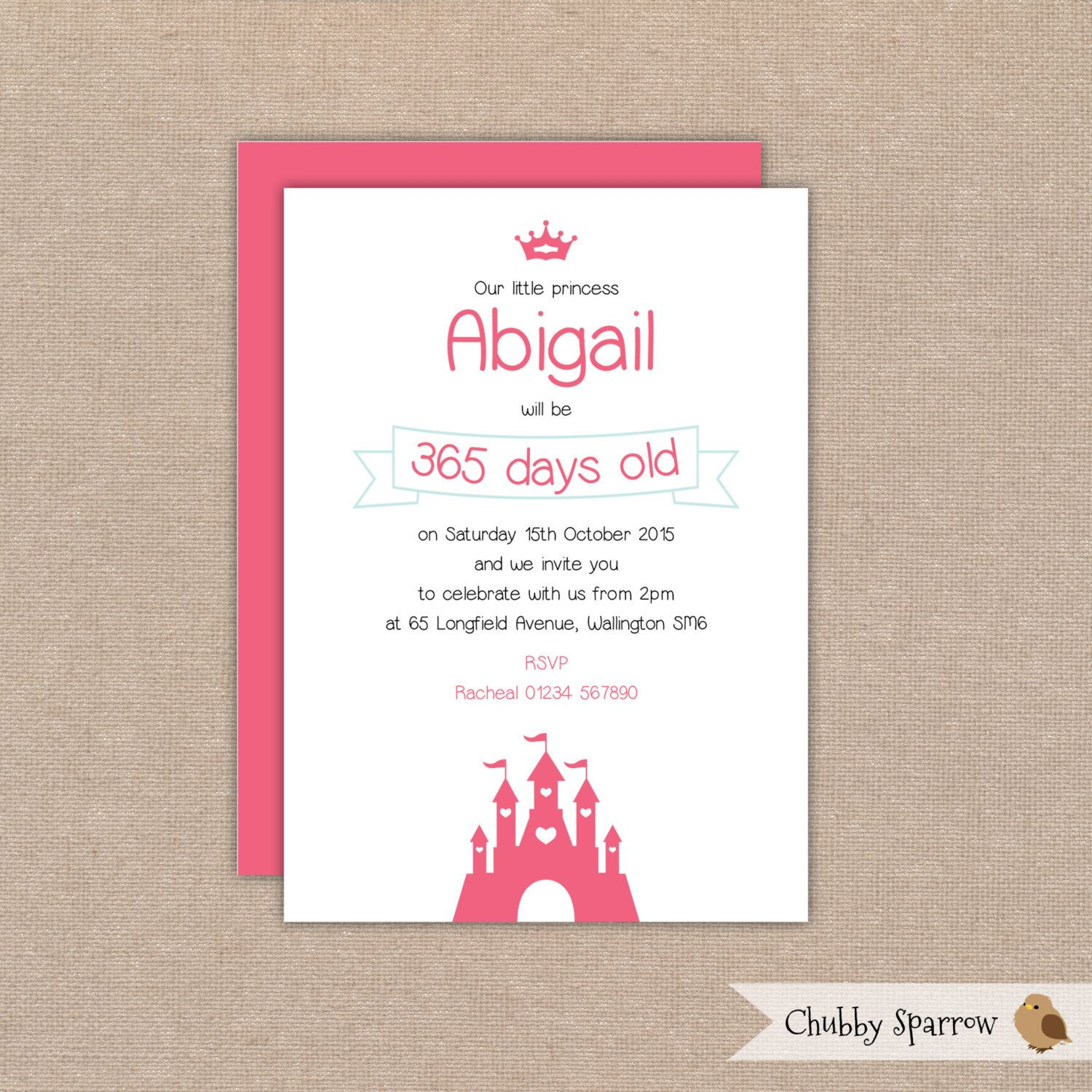 Birthday Invitation, Princess Party, Fairytale birthday, 1st, 2nd ...