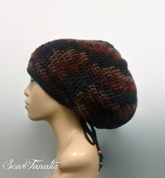 Instant Download Easy Crochet Mega Tam/ Dreadlock hat pattern with ...