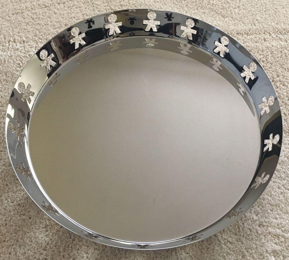 online for sale professional sale fashion Alessi Italy GIROTONDO KK12 round tray Silver stainless ...