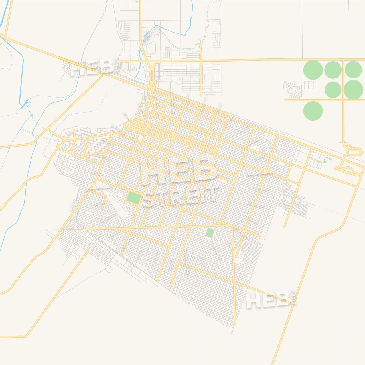 Empty Vector Map Of San Luis Rio Colorado Sonora Mexico Streit