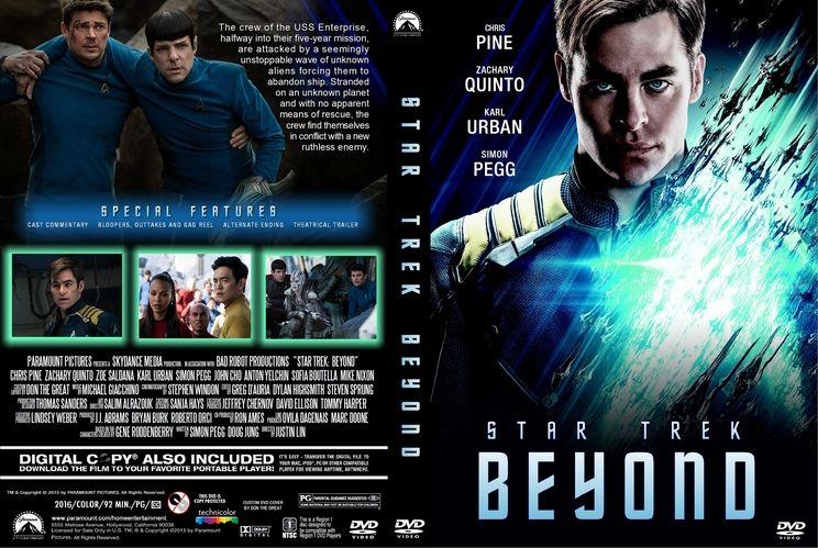 Star Trek Beyond 2016 Custom Dvd Cover Custom Dvd Cover Art