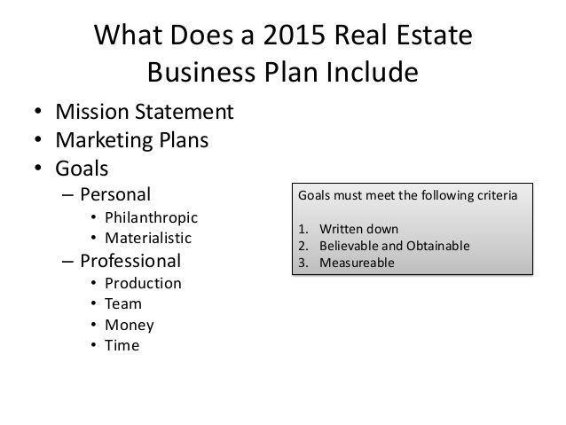 real estate agent business plan template - Google Search