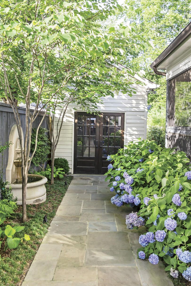 How Landscaping Added Instant Charm To This New Birmingham Home Side Yard Landscaping Yard Landscaping Backyard