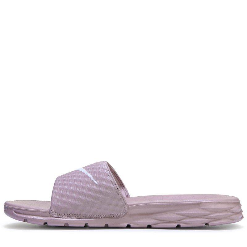 df4dee5c9 Nike Women s Benassi Solarsoft Slide Sandals (Elemental Rose White)
