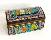Gift Box,Trinket Box Vintage Collection Flip-flop Box Three Hand Painted Boxes Jewelry Box