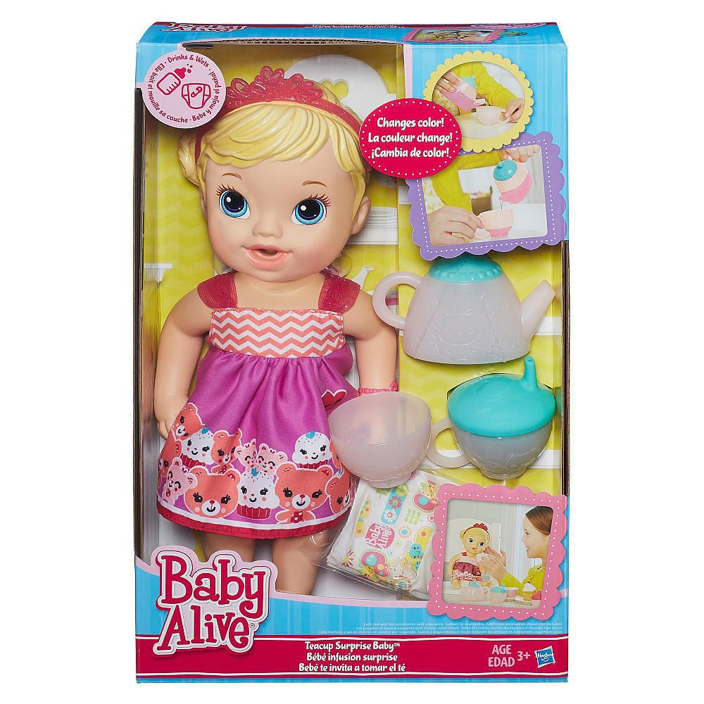 Baby Alive Lil Sips Baby Has A Tea Party Doll Blonde Hasbro Nib Baby Alive Dolls Baby Alive Baby Dolls