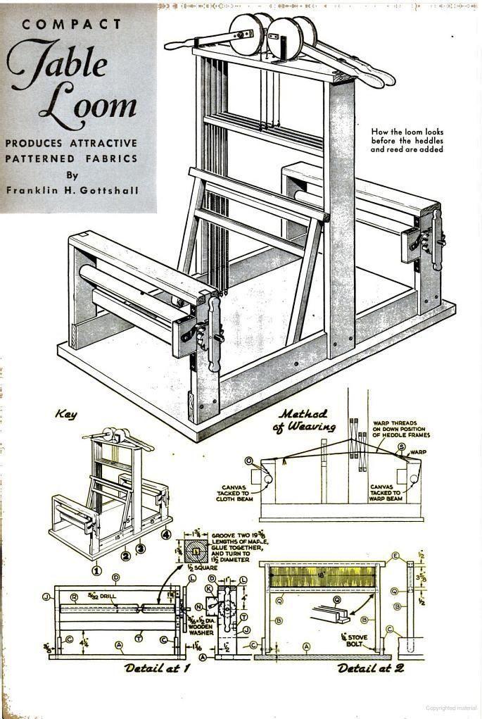 DIY 4 shaft table loom   Popular Science - Google Books