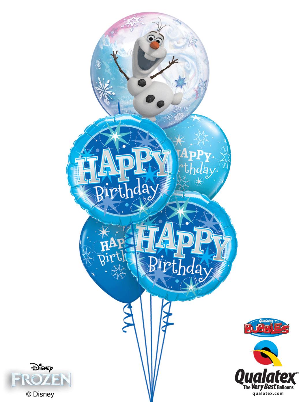 Birthday//Party DISNEY FROZEN Qualatex Latex /& Bubble Balloons Anna,Elsa,Olaf
