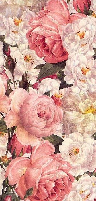 Vintageshabbypink Vintage Flowers Wallpapers Vintage Flower Wallpaper