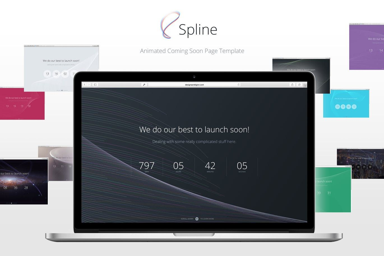 Spline — Animated Coming Soon Landing Page Template HTML   Landing ...