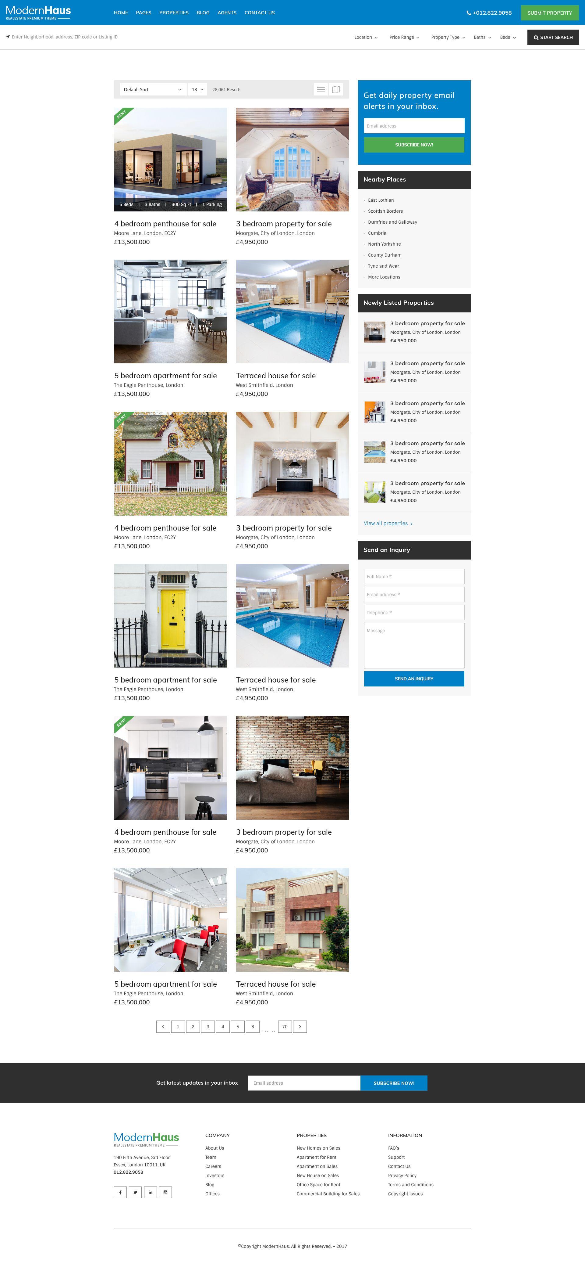 Modernhaus Real Estate Psd Template Psd Templates Real Estate Templates