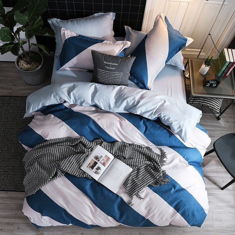 28 78us 35 Off Star Duvet Cover Sets Heart Quilt Cover Bedding Set Bed Sheet Simple King Size Single Double Queen Nordic Geometric Bed Linens Duvet Cover Bed Cover Sets Colorful Bedding