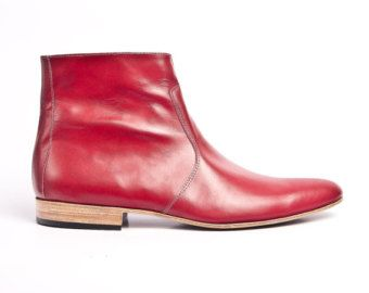 749fa20dd red leather beatle boots buffalo 66 Vincent Gallo red boots - FREE SHIPPING