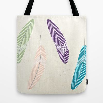 Feathers Tote Bag by BriS