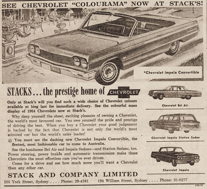1964 Chevy Impala Ad Impala Car Advertising Car Ads