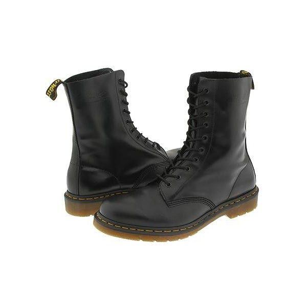 mujer Dr 1490 Martens Zapatos negros para qUwxZS1g