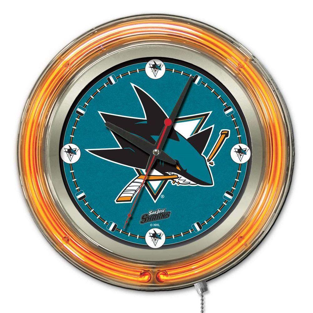 San Jose Sharks Neon Light Clock