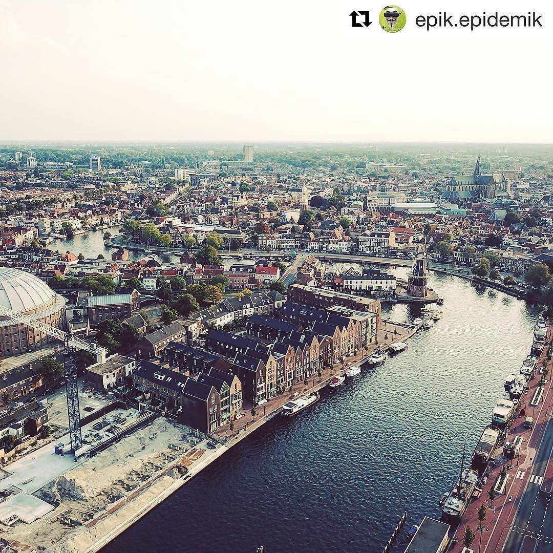 Wauw deze foto van @epik.epidemik is het reposten waard. Uitzichtje hoor! #haarlem #haarlemcityblog #spaarne