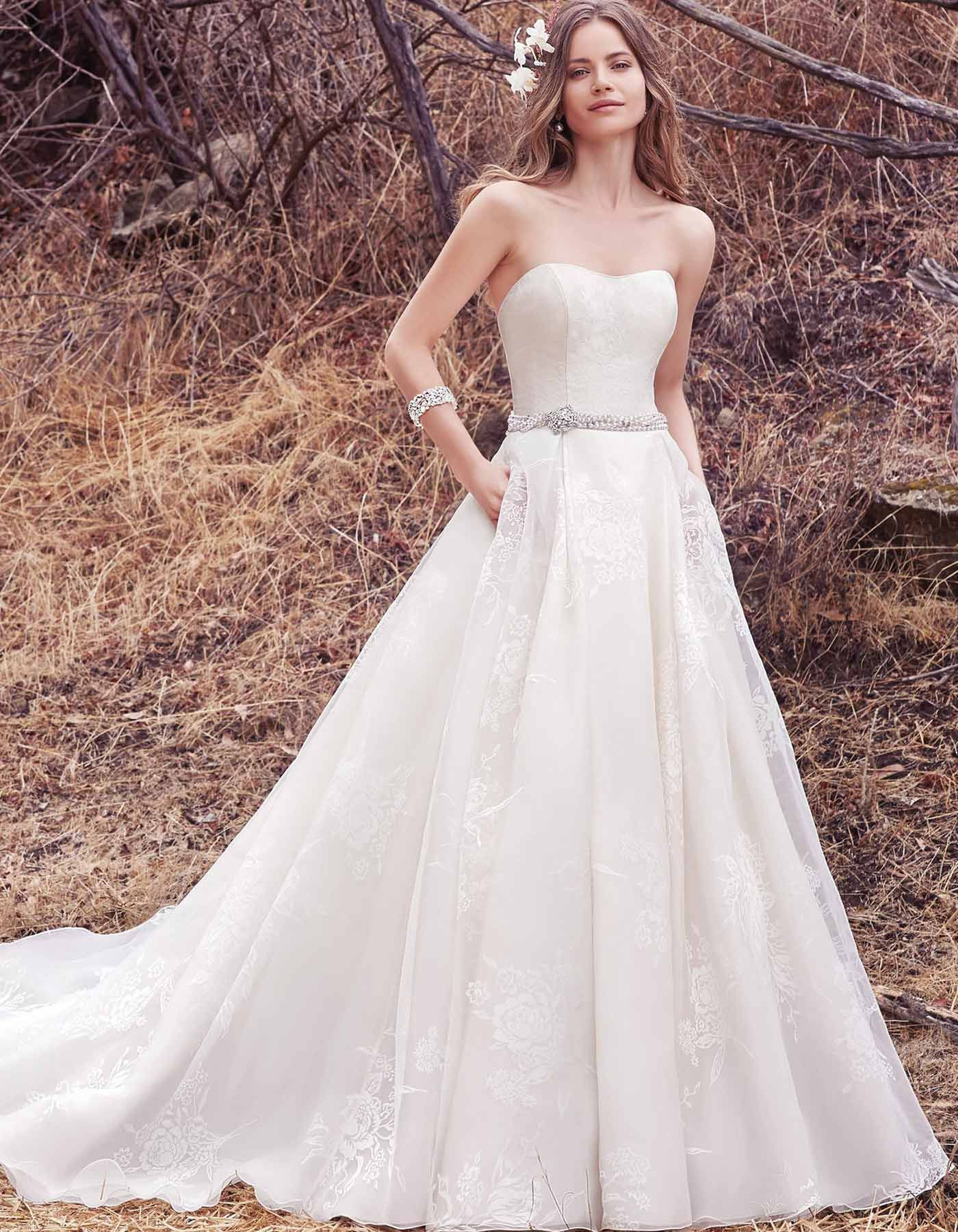 Floral Organza Ballgown Wedding Dress