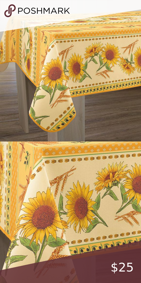 60x80 Rectangle Sunflowers Yellow French Tabletop In 2020 Yellow Sunflower Rectangle Sunflower