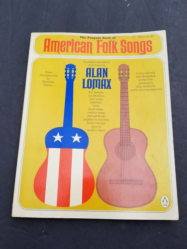 Folk Songs Book Alan Lomax Guitar Chords Piano Arrangements Ballads