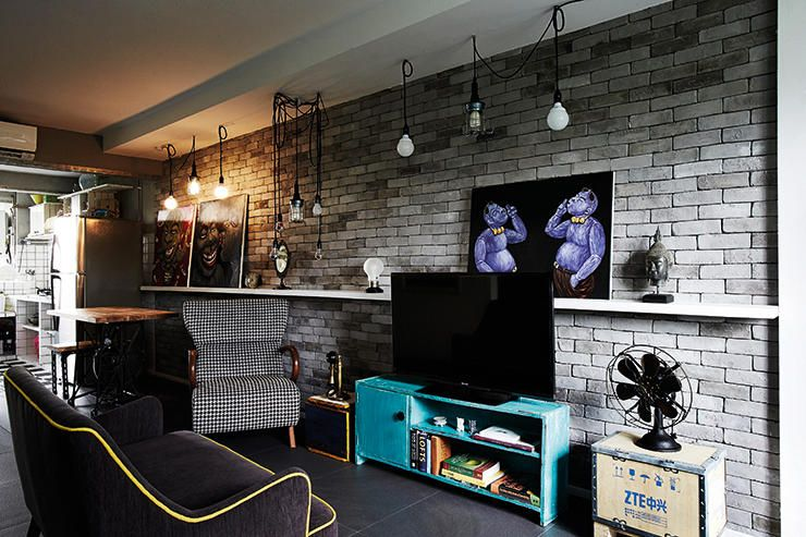A 70000 Renovation Gives This Three Room HDB Flat Unique Quirky Look