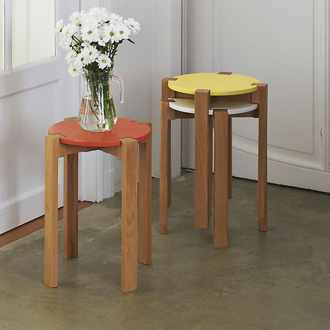 siwa tabouret bas au design scandinave coloris jaune. Black Bedroom Furniture Sets. Home Design Ideas