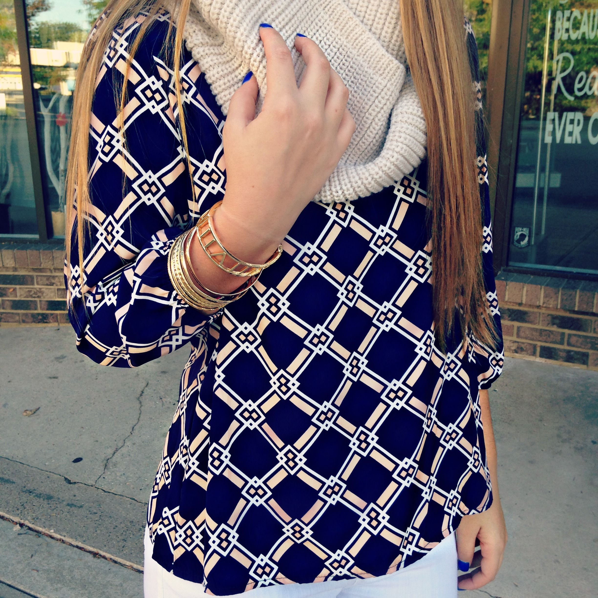 Printed Blouse | uoionline.com: Women's Clothing Boutique