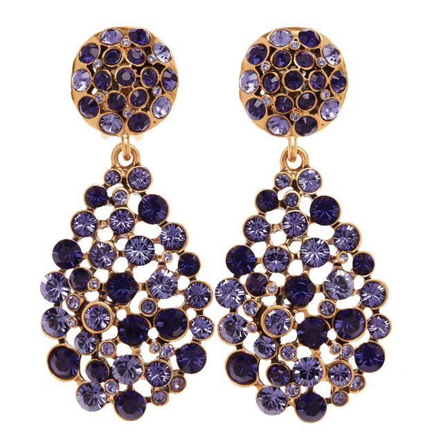 Star Crystal earrings - Metallic Oscar De La Renta