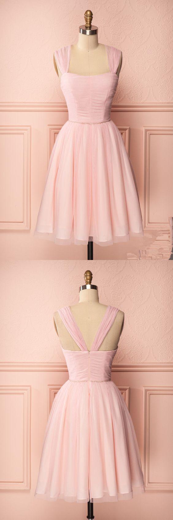 Blush pink homecoming dressesshort prom dressescheap homecoming