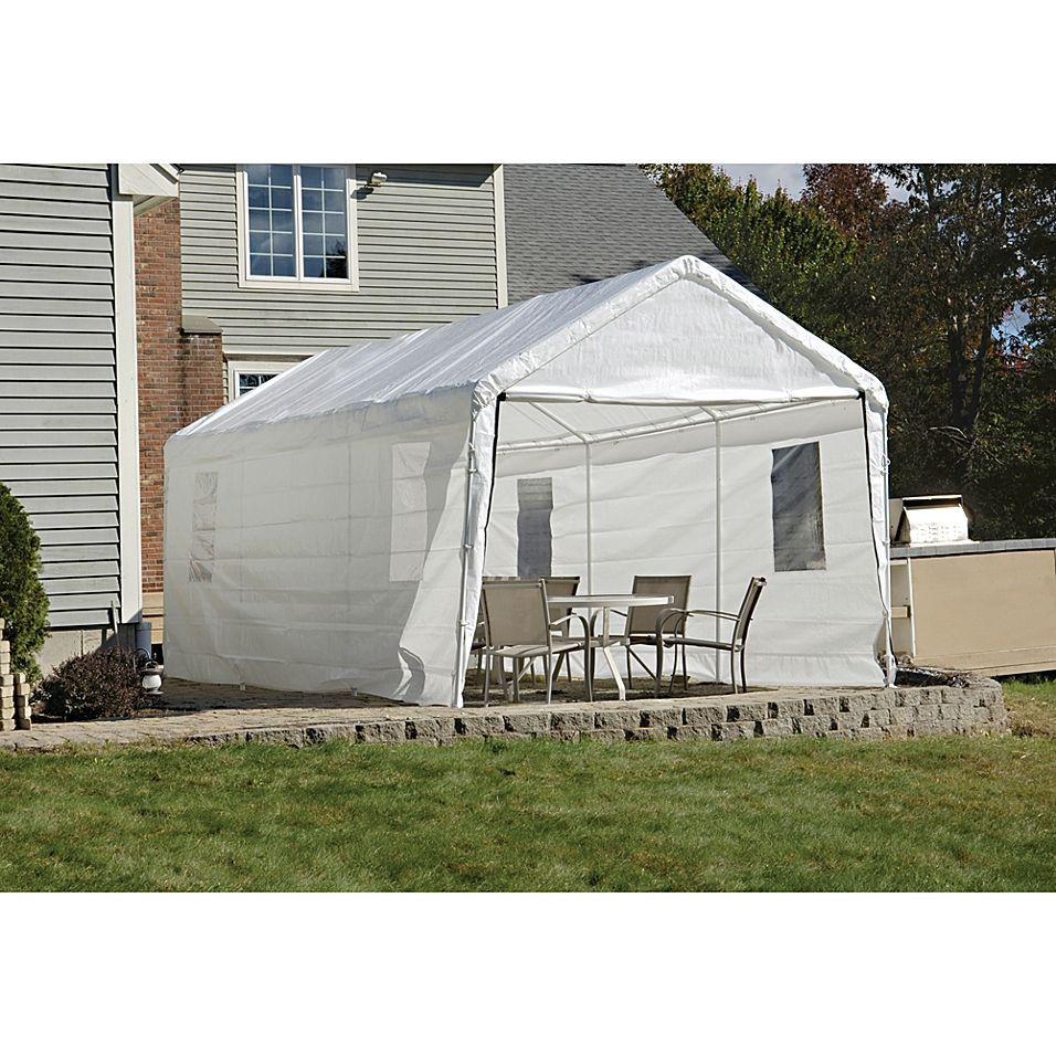 Shelterlogic Clearview Enclosure Kit W Windows 10 X 20 White Outdoor Patio Umbrellas Gazebo Canopy Canopy Cover