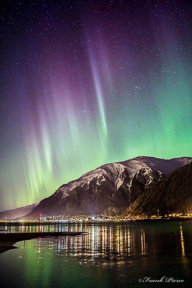 Amazing Aurora Over Juneau Alaska With