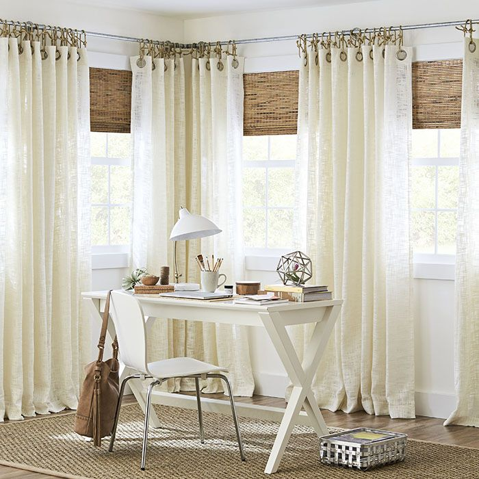 Stylish Ideas For Covering Tricky Windows Window Treatments Living Room Corner Window Treatments Living Room Windows