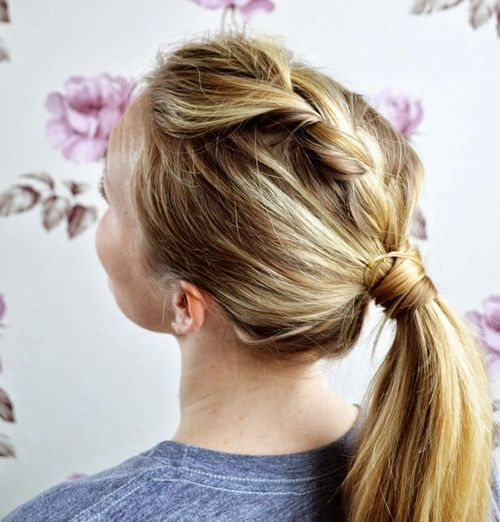 Braided ponytail ideas 40 cute ponytails with braids pony hair extensions easy braid into pony hairstyle pmusecretfo Choice Image