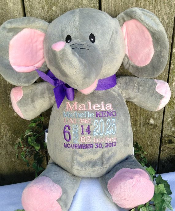 Monogrammed baby gift personalized embroidered cubbies elephant monogrammed baby gift personalized embroidered cubbies elephant personalized by world class embroidery photo prop wildlife zoo animal negle Choice Image