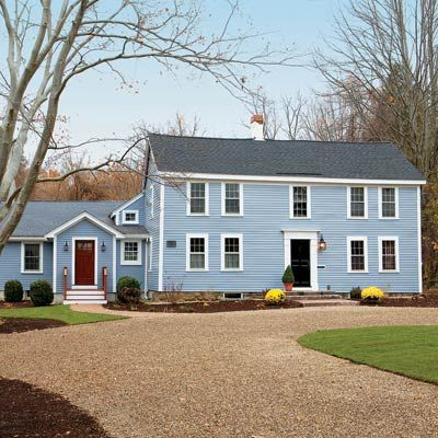 Building on a colonial era american original bedford for Classic house colors
