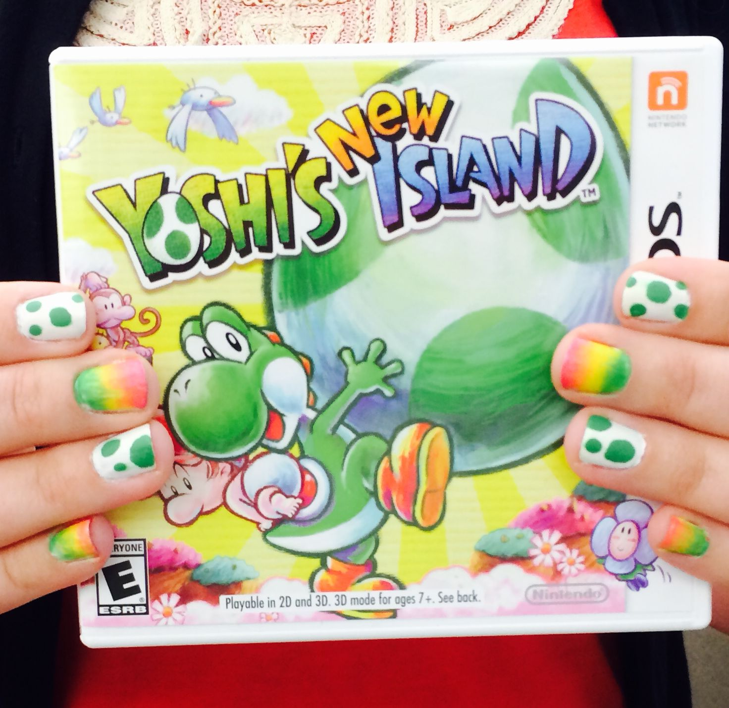 Check out this manicure inspired by the pretty colors in #Yoshi\'s ...