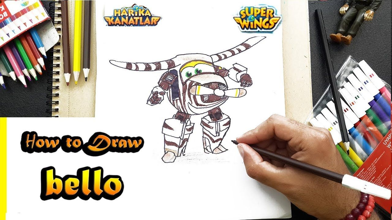 How To Draw Super Wings Bello Step By Step Easy Harika Kanatlar