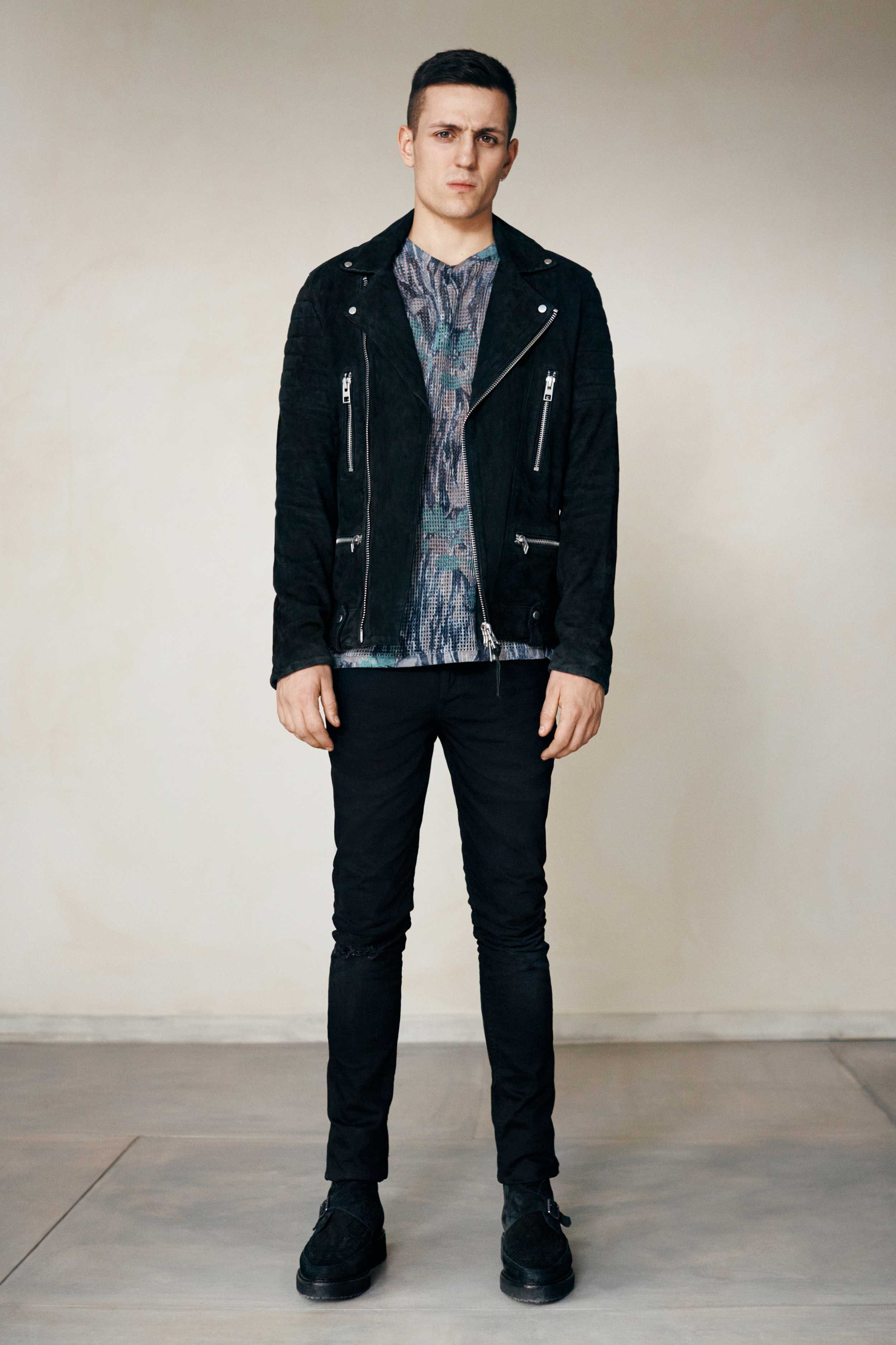 ALLSAINTS Men's lookbook 2015 April. LOOK 6. Streetwear